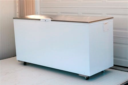 Small deep-freeze type chiller Pasteurizer sold by MicroDairy Designs