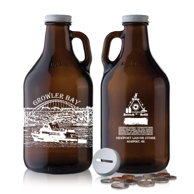 32oz Amber Growler Growler sold by Strategic Manufacturing and Printing Solutions DBA Keyscaper