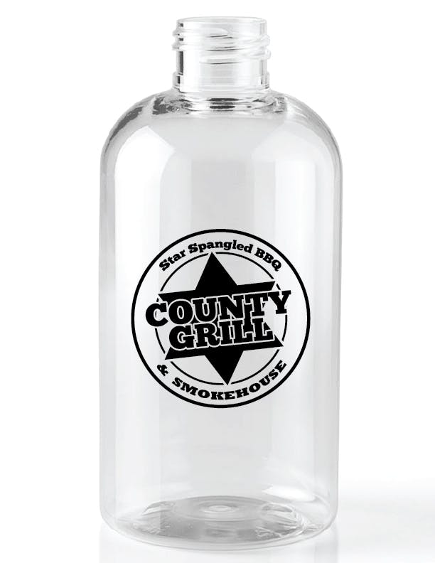 446J - 32 oz Clear Boston Round Growler sold by ARTon Products