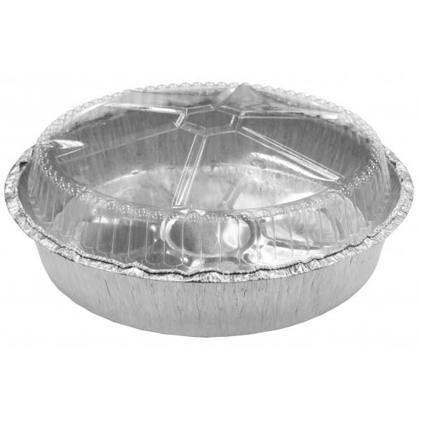 "9"" Round Foil Container w/ Lid"