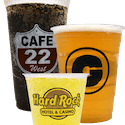Custom Printed - Clear Plastic PET Cups or PETE Cups