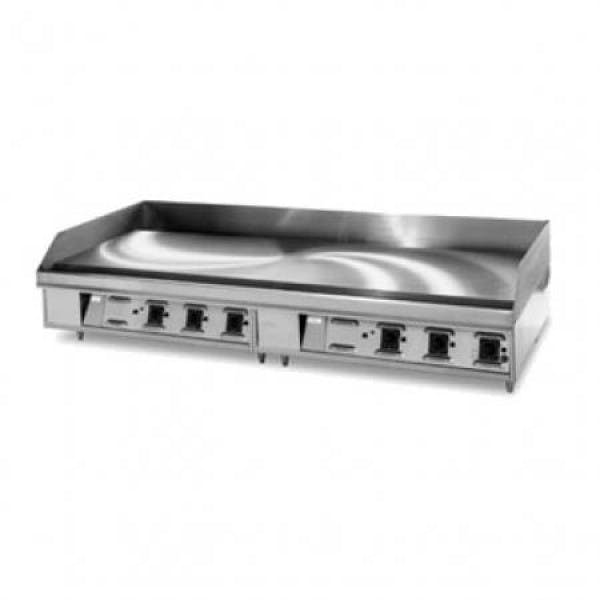 """LG Series 72"""" NG Griddle w/ Chrome-Plated Snap-Action Thermostat Controls"""