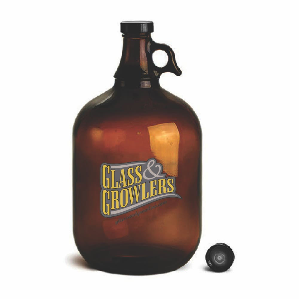 1 Gal Amber Glass Growler Growler sold by Glass and Growlers