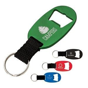 Bottle Opener Key Ring w/ Web Strap Bottle opener sold by Custom H2Oh!