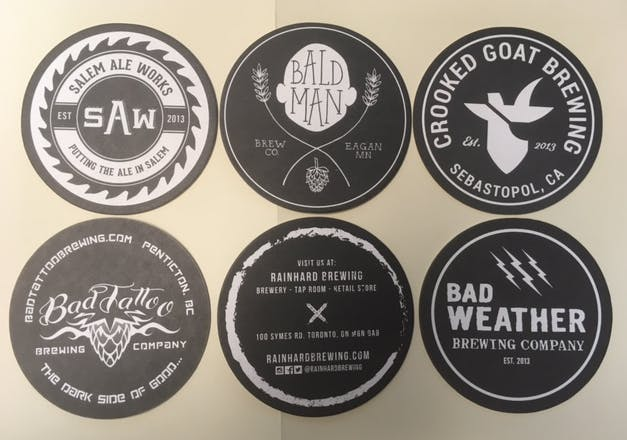 Black and White Coasters - sold by Coaster Factory
