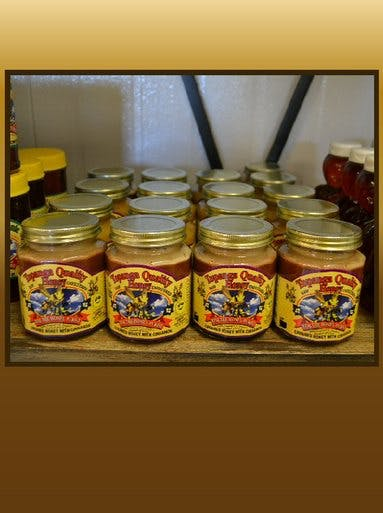 CREAMED HONEY WITH CINNAMON 12OZ - CASE Honey sold by Bennett's Honey Farm