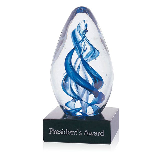 Gemini Large Art Glass award by Jaffa® Award sold by Distrimatics, USA