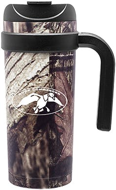 Stainless Steel 16 oz. travel cup in Mossy Oak Camo Stainless steel mug sold by Distrimatics, USA