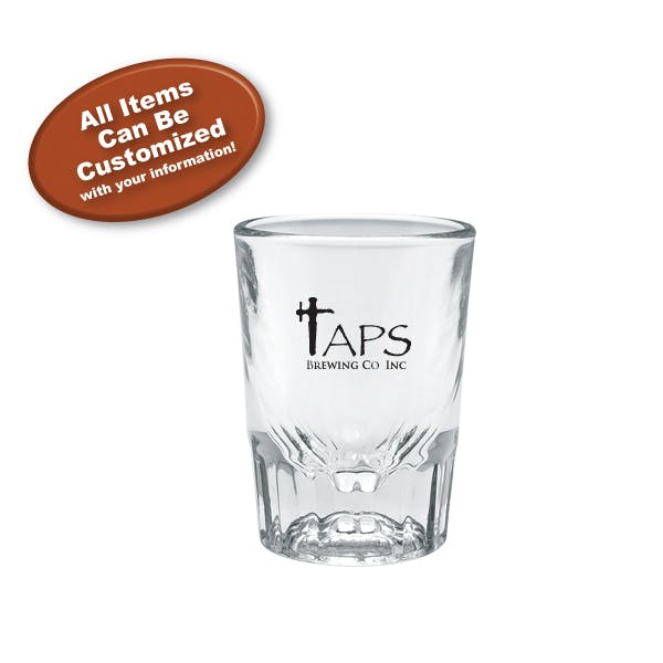 2 oz. Fluted Shot Glass Shot glass sold by MicrobrewMarketing.com