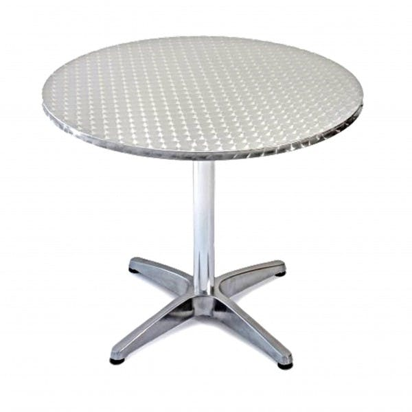 "24"" Round Stainless Outdoor Table"