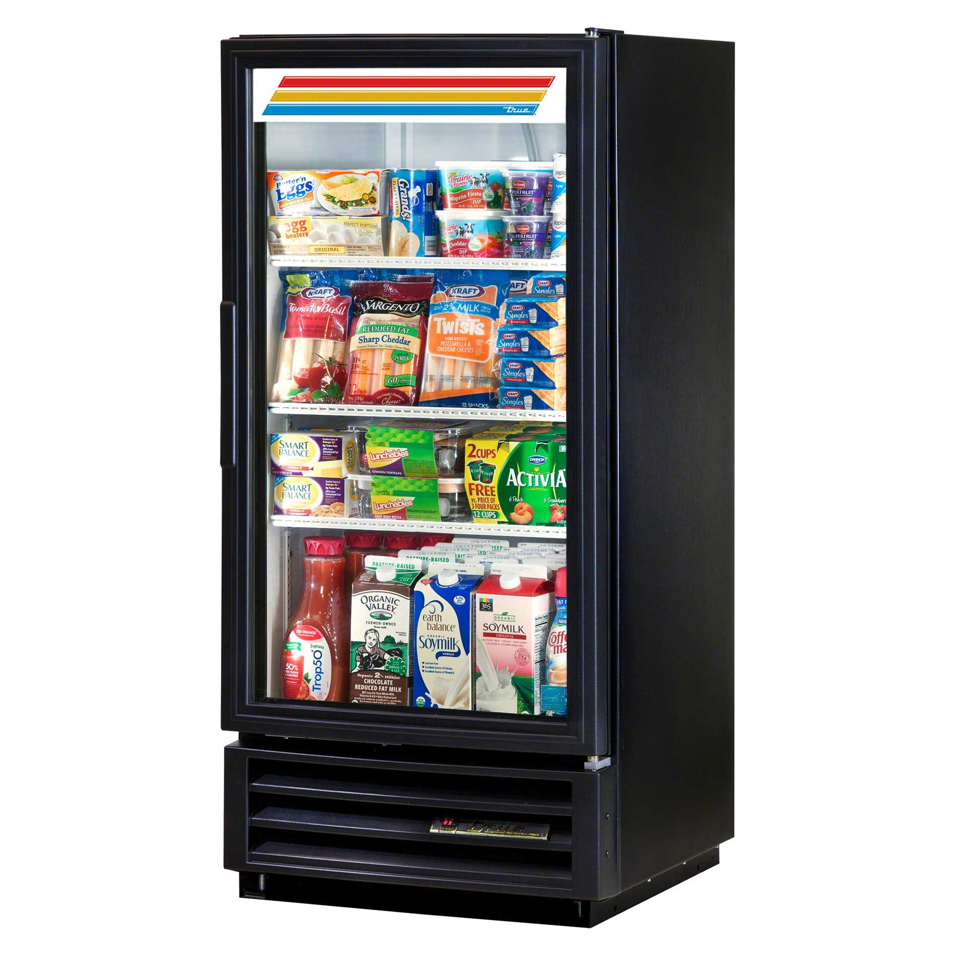 "True - GDM-10-LD 25"" Swing Glass Door Merchandiser Refrigerator LED Commercial refrigerator sold by Food Service Warehouse"