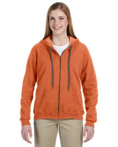 G187FL Gildan Heavy Blend™ Ladies' 8 oz. Vintage Classic Full-Zip Hood Promotional apparel sold by Lee Marketing Group