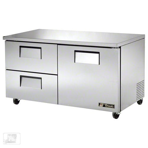 "True - TUC-60D-2 61"" Undercounter Refrigerator w/ Drawers Commercial refrigerator sold by Food Service Warehouse"