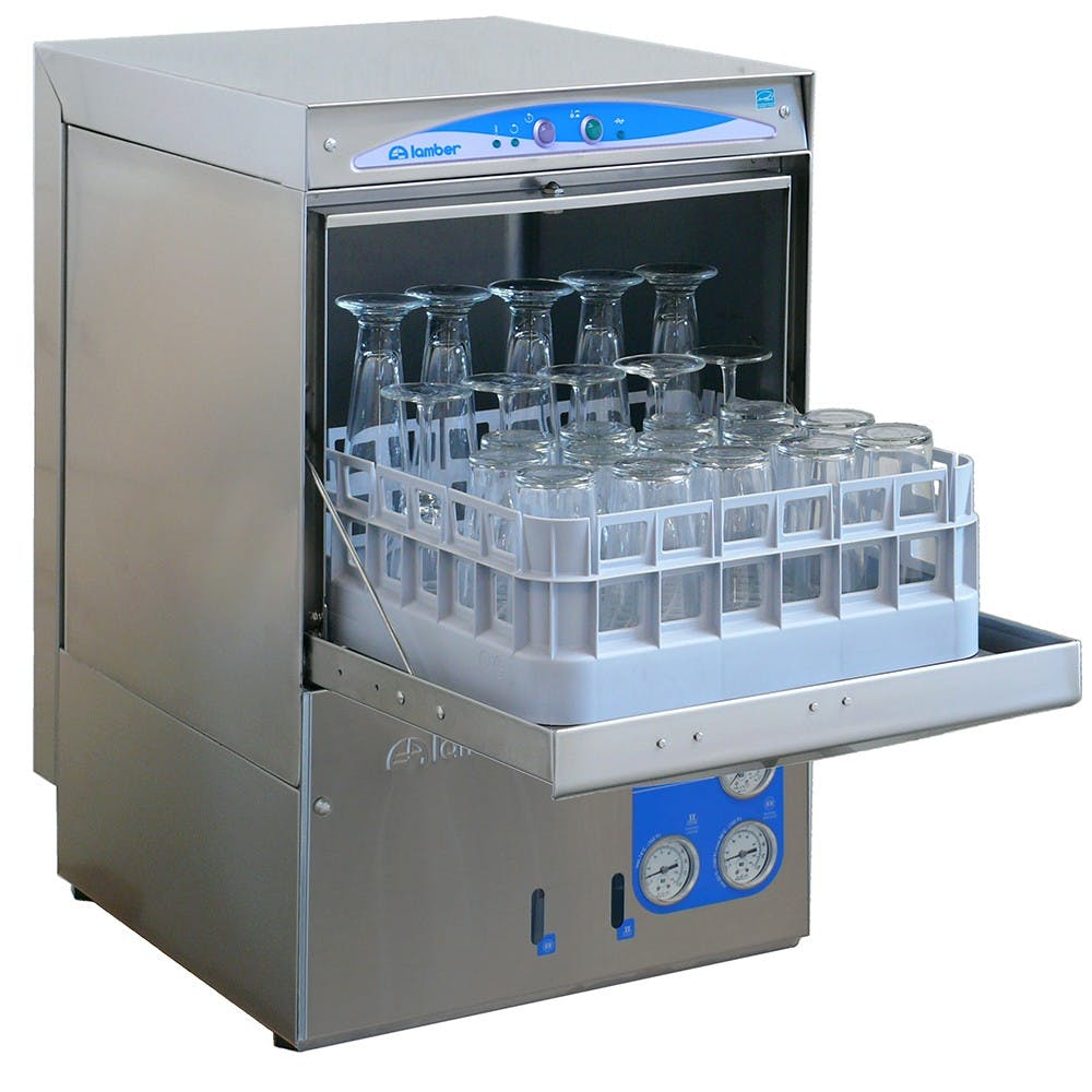 Eurodib DSP3 | Lamber High Temp Underbar Glass Washer (30 Racks/Hr) Commercial glass washer sold by Mission Restaurant Supply