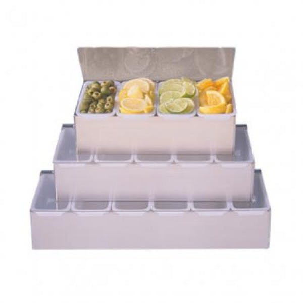 6 Compartment Stainless Condiment Holder