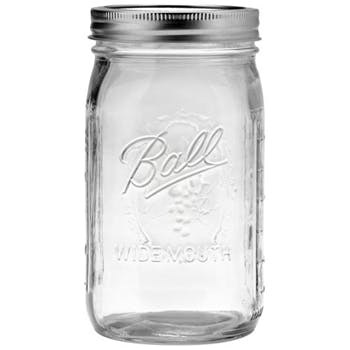 Ball Widemouth Quart Jars with Bands & Lids - 32 oz Glass Jar sold by Fillmore Container Inc