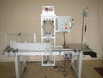 2 Head Gravity Filler Bottle filler sold by MSM Packaging Solutions