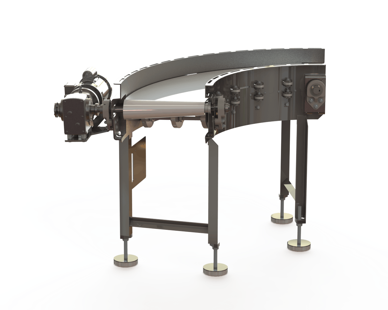 Zero Tangent Radius Conveyor Conveyor sold by Fusion Tech Integrated Inc.
