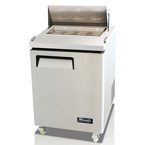 Migali C-SP27-8 Single Door Prep Table Food prep table sold by Pizza Solutions
