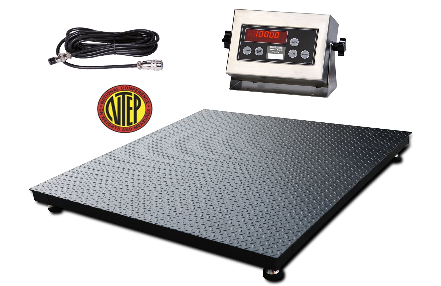 Certified US Made Scale Floor Scale with Pennsylvania PA7400 Indicator - sold by Meilestone