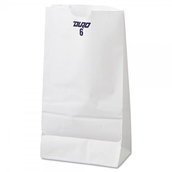 White 6# Paper Grocery Bag