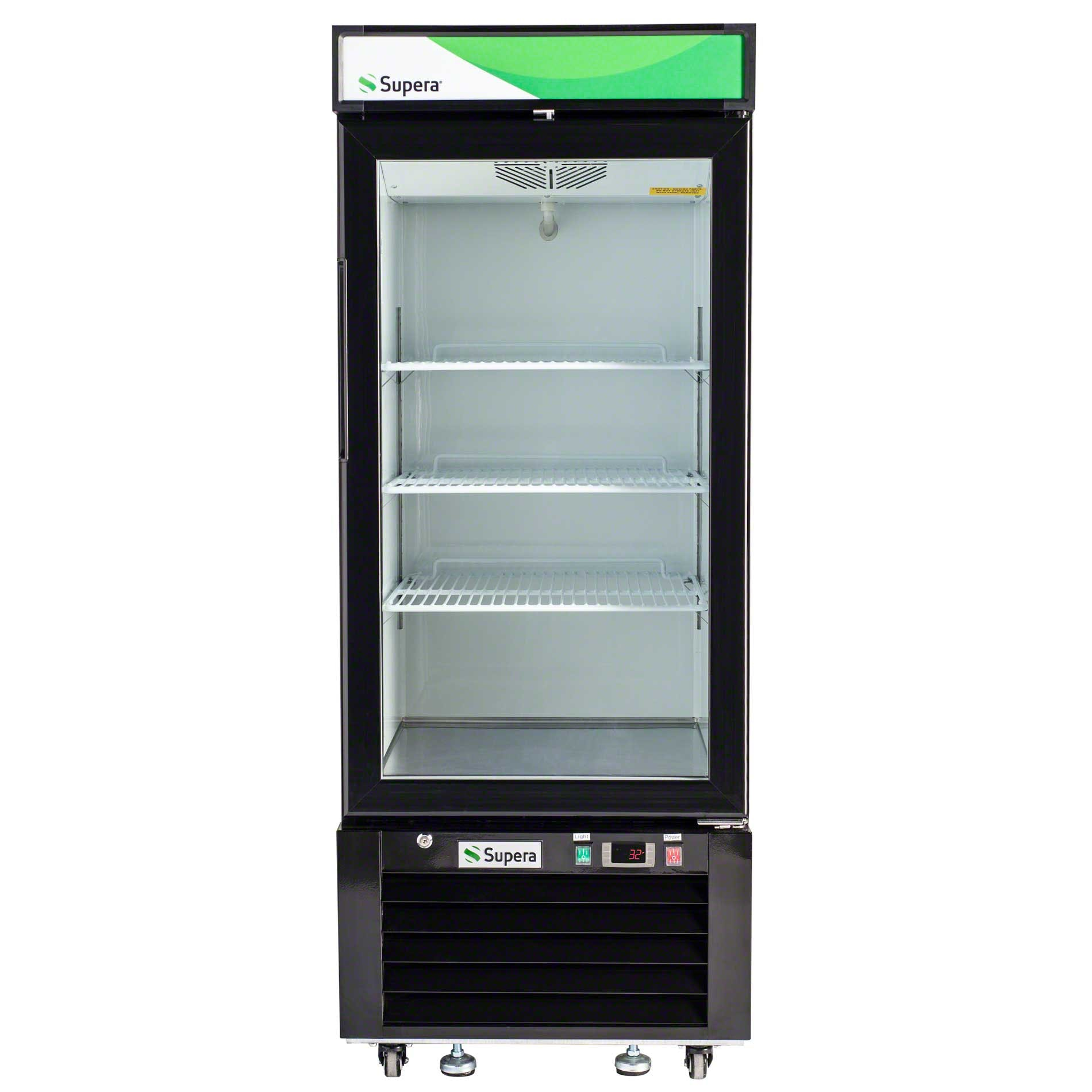 "Supera - G1M-12-B-1 25"" Glass Door Merchandiser - Black Commercial refrigerator sold by Food Service Warehouse"