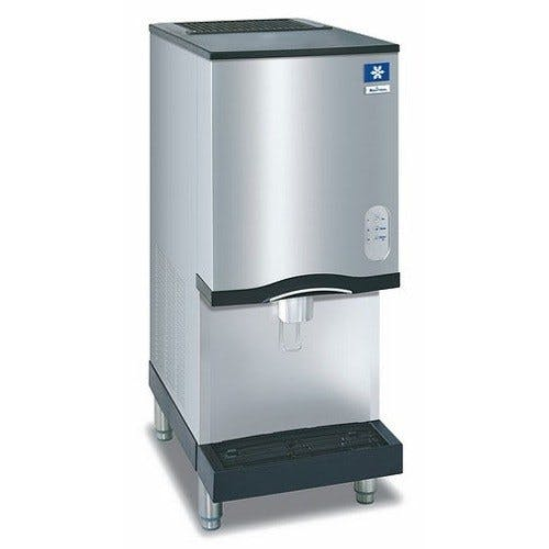 Manitowoc RNS-12A Air Cooled Countertop Ice Maker and Water Dispenser - 12 lb. Bin with Lever Dispensing Ice machine sold by WebstaurantStore