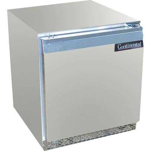 "Continental Refrigerator ( DLUCF27-SS ) - 27"" Undercounter Freezer Commercial freezer sold by Food Service Warehouse"