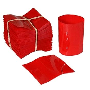Red Shrink Bands for Hot Sauce Bottles with 24mm Finish Shrink band sold by Fillmore Container Inc