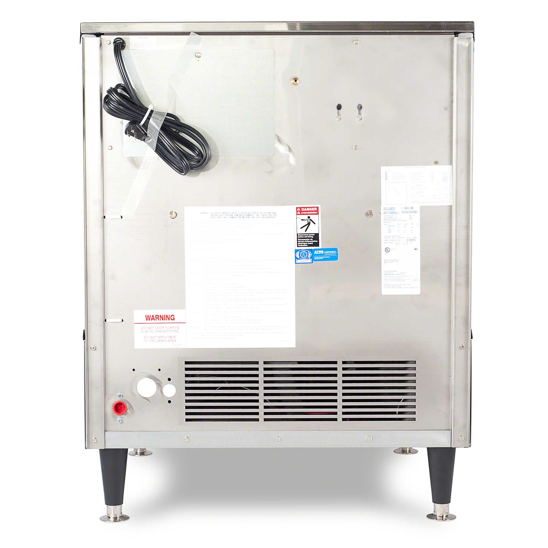 Ice-O-Matic - ICEU220HW 251 lb Self-Contained Half Cube Ice Machine - sold by Food Service Warehouse