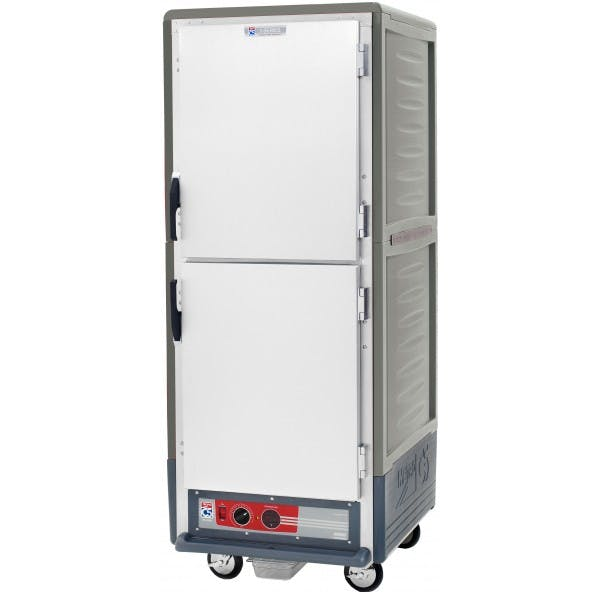 "71"" Gray Heated Holding Cabinet w/ Dutch Doors - INMC539-HDS-U-GY"