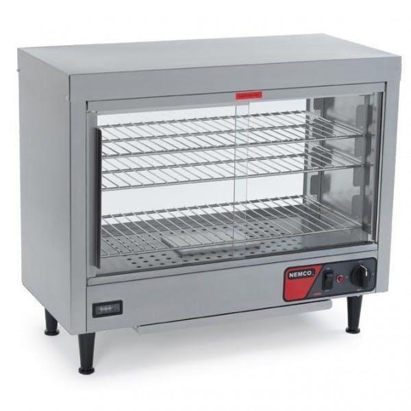 3 Shelf Stainless Lighted Heated Display Case