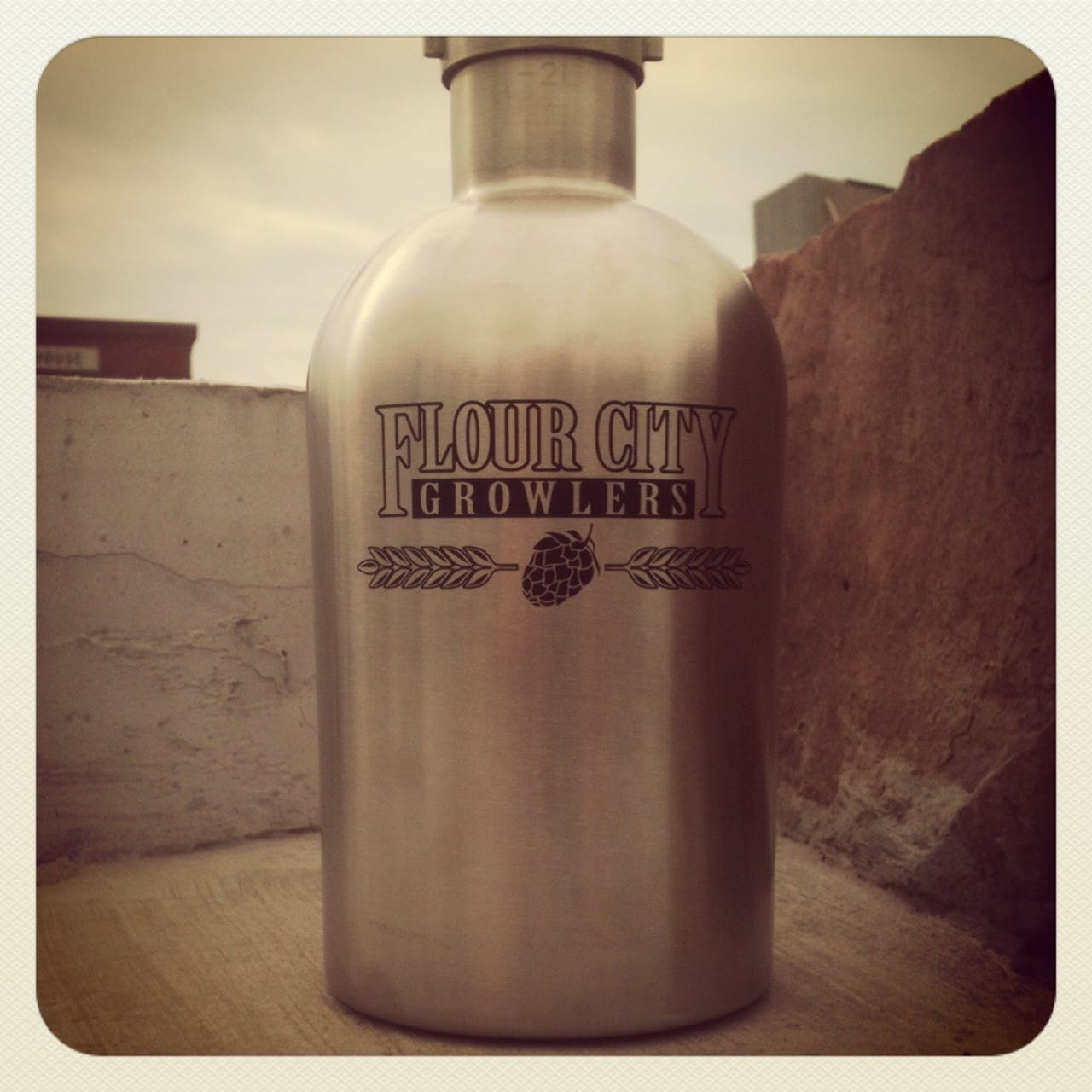 Stainless Steel Growler with FCG logo Growler sold by Flour City Growlers