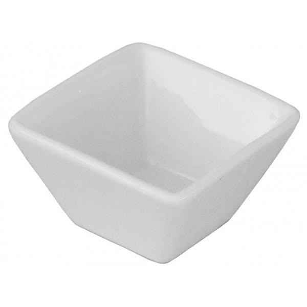 2 oz. White Porcelain Square Ramekin
