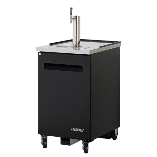 Turbo Air TBD-1SB Direct Draw 1 Keg Beer Dispenser, Black Kegerator sold by Mission Restaurant Supply