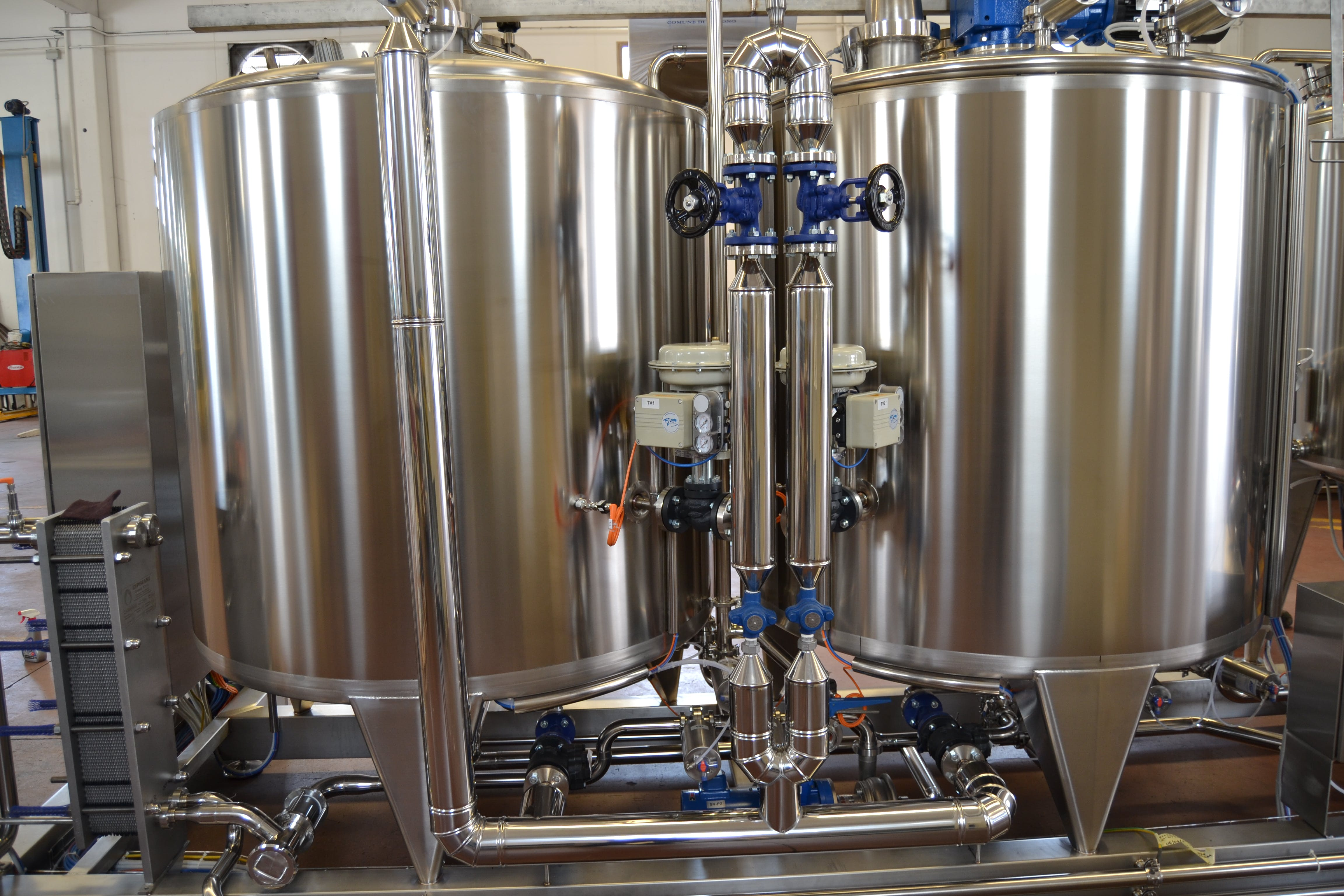 Brewhouse, automatic steam valves & heat exchanger Brewhouse sold by Spec Trellising