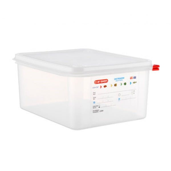 13.2 qt. 1/2 Size Colorclip® Clear Airtight Food Storage Container w/ Lid