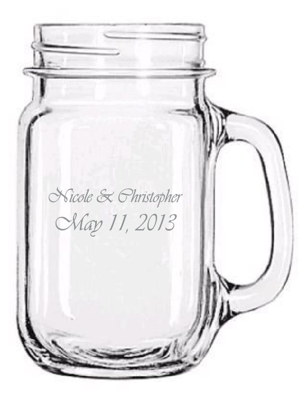 97084 - Libbey 16.5 oz Handled Drinking Jar Glass Jar sold by ARTon Products