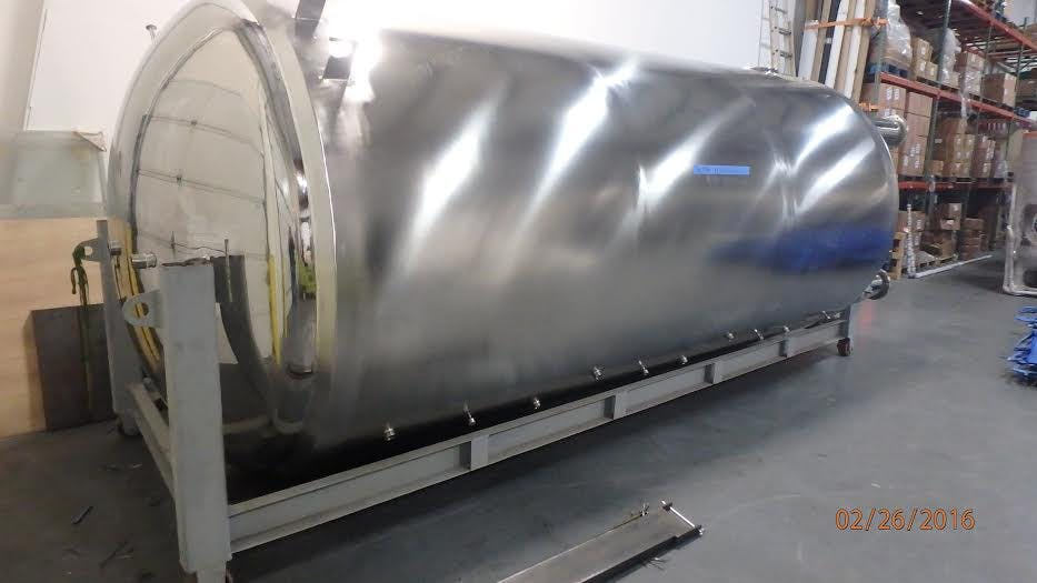120 bbl jacketed bright tank Bright tank sold by GLACIER TANKS