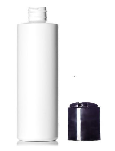 8 oz Natural HDPE Plastic Cylinder Bottle w/ Disc cap Plastic bottle sold by PremiumVials