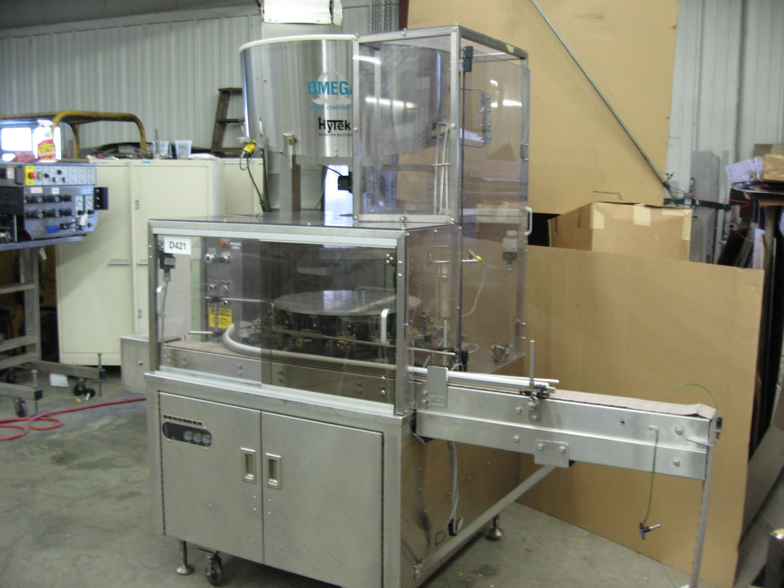 Used Omega 3D-RP2-15 Bottle Unscrambler #1087 Unscrambler sold by HyTek Automation Solutions