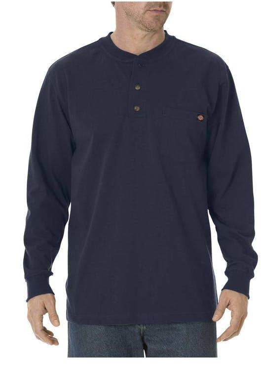 Long Sleeve Heavyweight Henley Promotional apparel sold by Kevins Worldwide