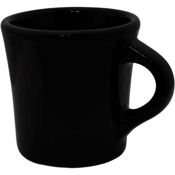 8 oz. Black Ceramic Admiral's Coffee Mug
