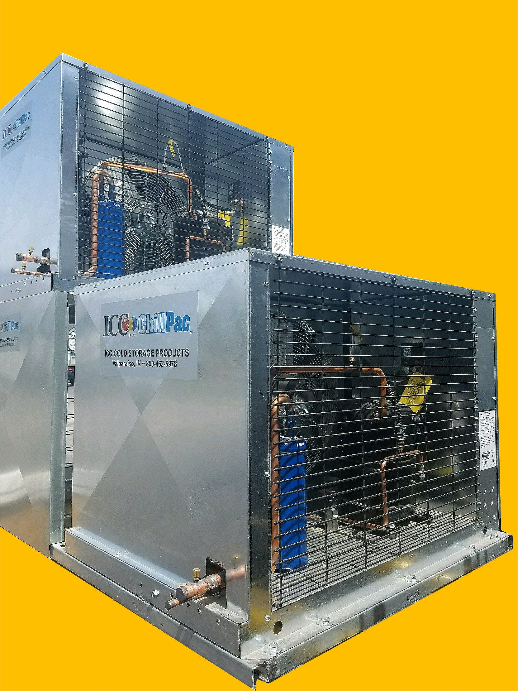 Custom-Built Glycol Chillers from 3/4 HP to 100 HP Glycol chiller sold by ICC Cold Storage Products