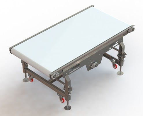 Adjusting Leg Straight Conveyor Conveyor sold by Fusion Tech Integrated Inc.