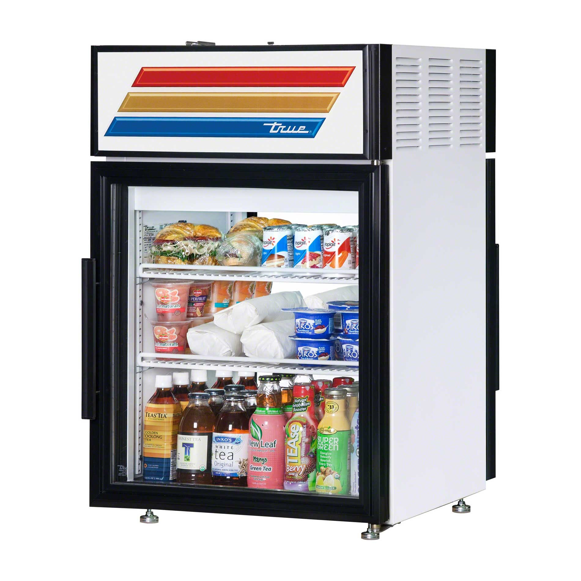 "True - GDM-5PT-LD 24"" Countertop Glass Door Merchandiser Refrigerator LED Commercial refrigerator sold by Food Service Warehouse"