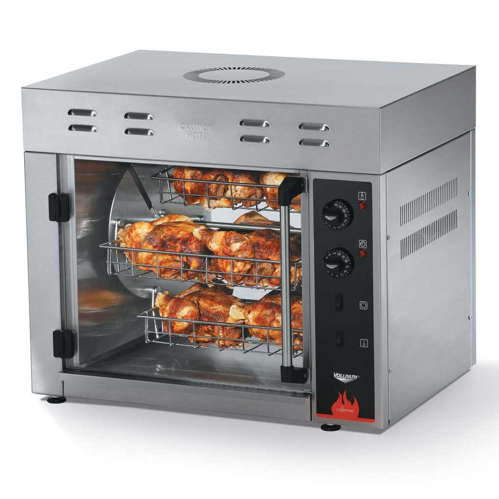Home Vollrath 40704 - Countertop Rotisserie Oven - 8 Bird Capacity Rotiserrie oven sold by Prima Supply