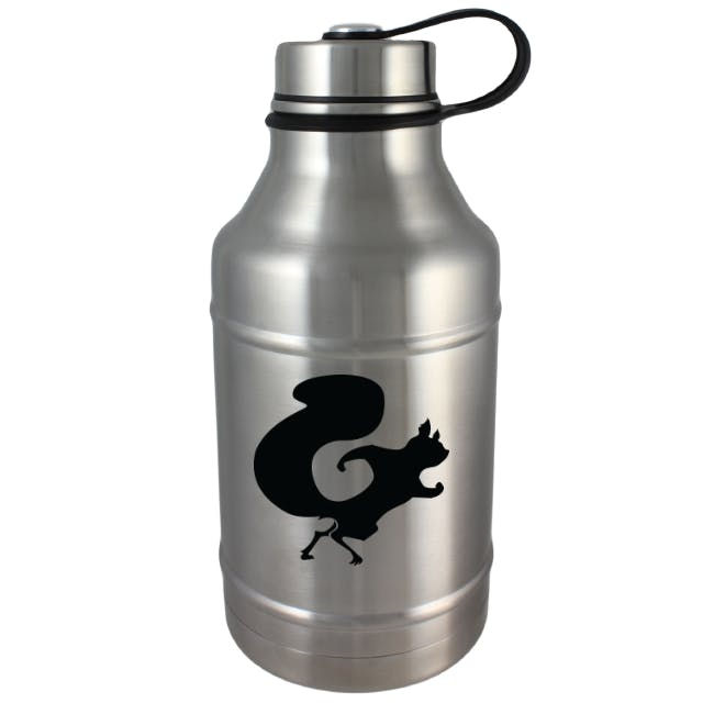 DWG64-SS Double Wall Vacuum Insulated Stainless Steel 64oz Growler Growler sold by Branded Brewsky