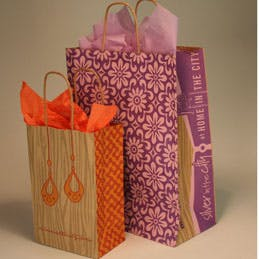 Recycled Kraft Paper Shopping Bags and Gift Boxes Kraft packaging sold by Howard Packaging