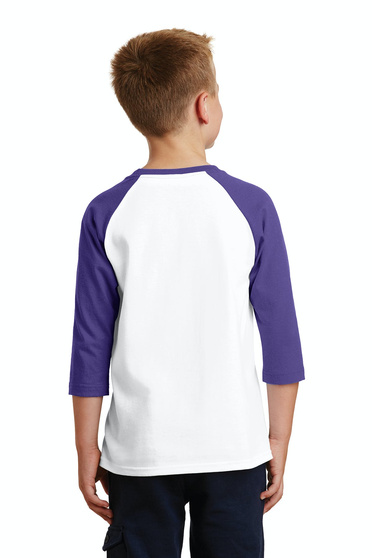 Port & Company® Youth Core Blend 3/4-Sleeve Raglan Tee - sold by PRINT CITY GRAPHICS, INC